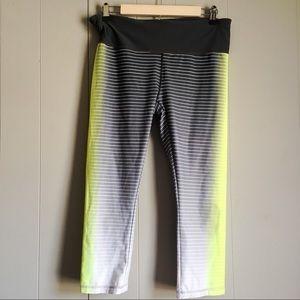GAP FIT Striped Compression Crop Legging L